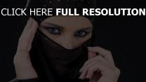 niqab élégant mascara brillant