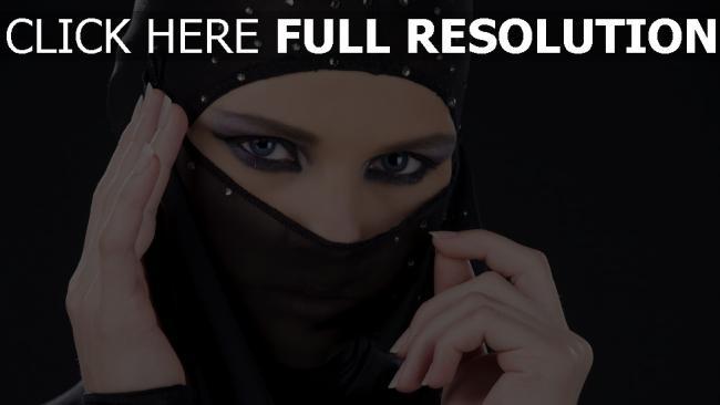 fond d'écran hd niqab élégant mascara brillant
