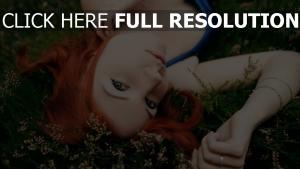 roux visage belle herbe