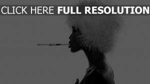 chapeau cigarette vue de côté élégant noir et blanc