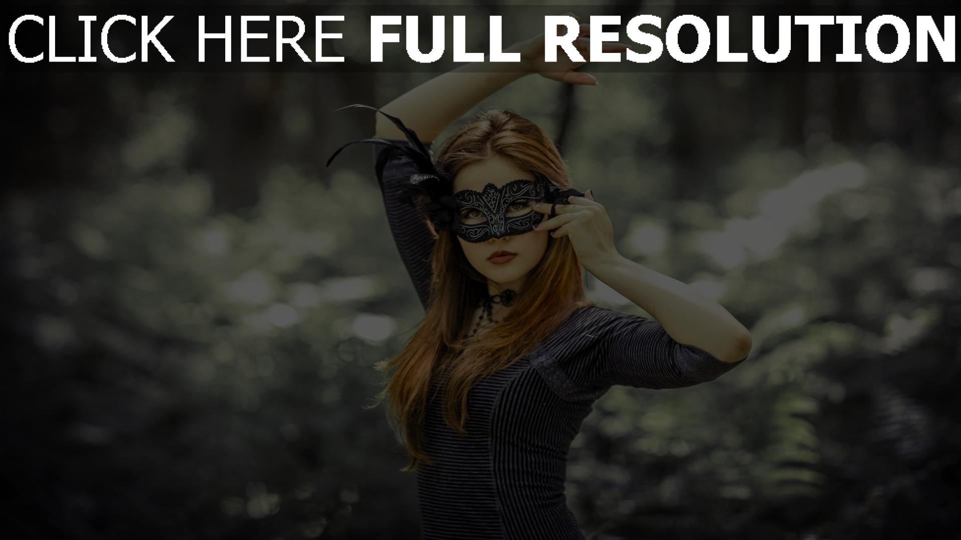 fond d'écran 1920x1080 masque roux robe geste