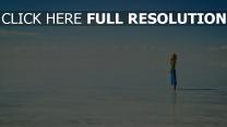 lac ciel roux paysage