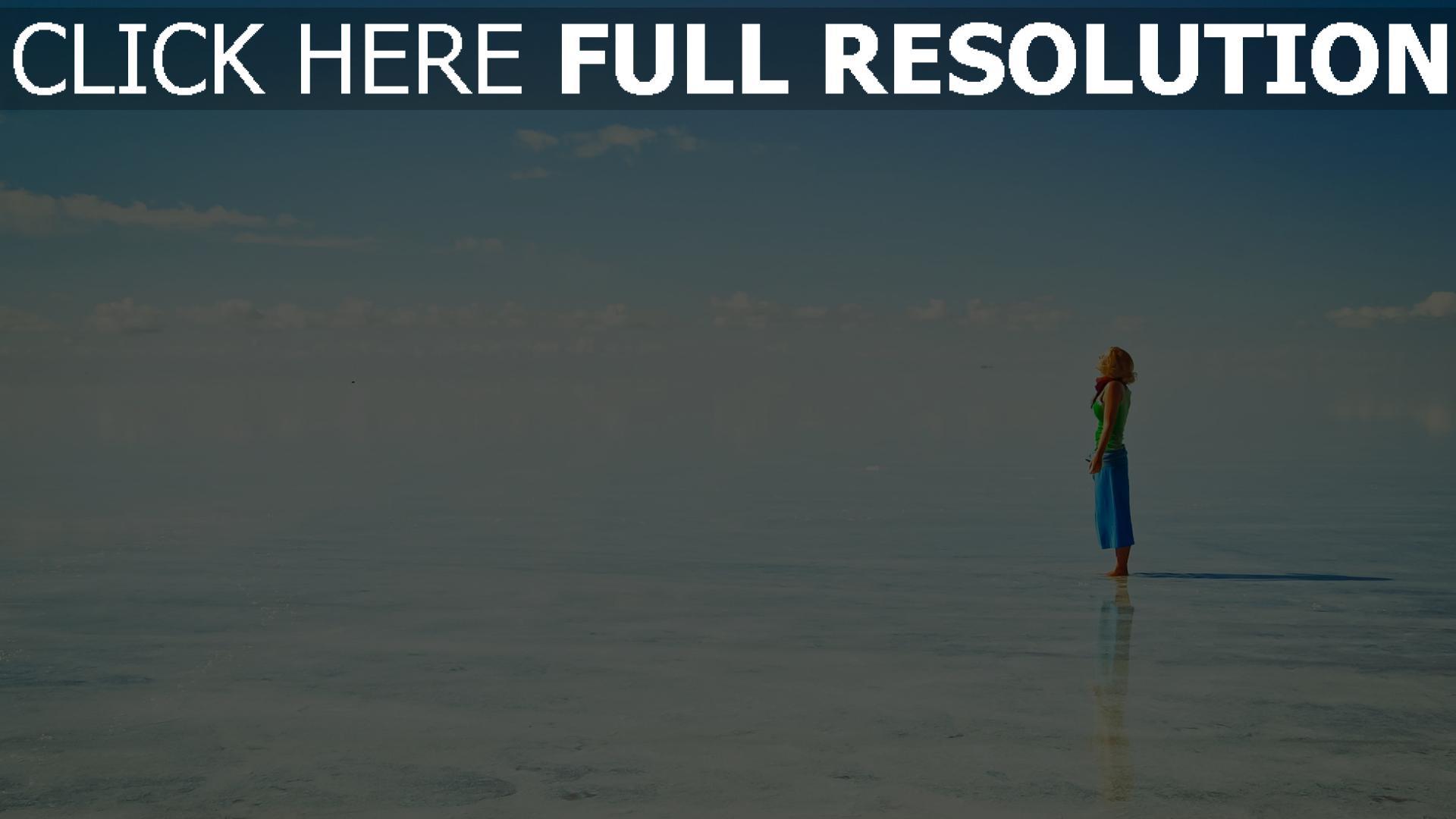fond d'écran 1920x1080 lac ciel roux paysage