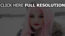rose coiffure maquillage visage gros plan