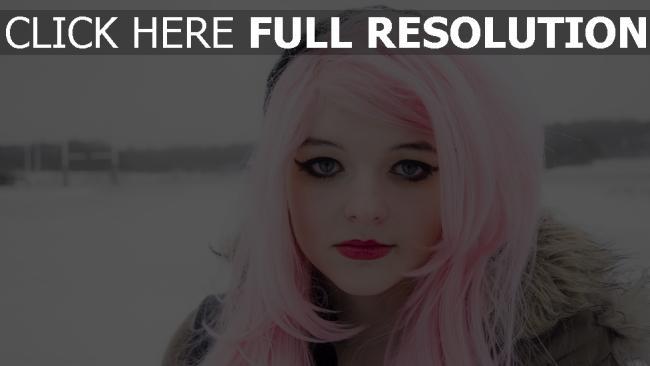 fond d'écran hd rose coiffure maquillage visage gros plan