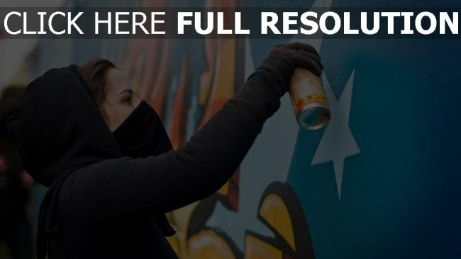 fond d'écran hd capuchon masque graffiti
