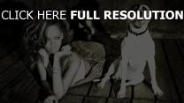 rihanna pitbull noir et blanc