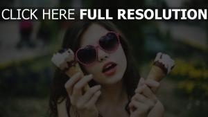 glacée lunettes rouge à lèvres