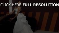 irina shayk mariée robe bouclé cheveux belle