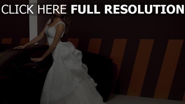 fond d'écran hd irina shayk mariée robe bouclé cheveux belle