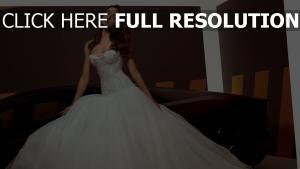 irina shayk vue de face mariée robe