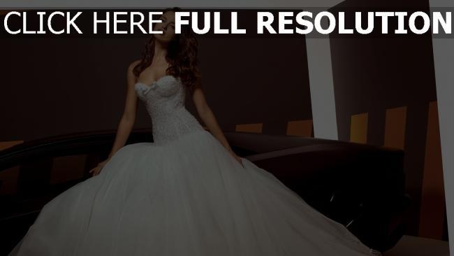 fond d'écran hd irina shayk vue de face mariée robe