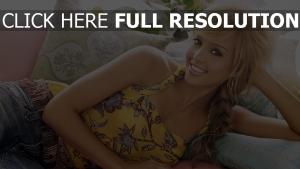 jessica alba blond sourire belle actrice