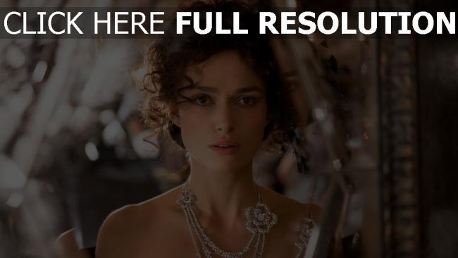 fond d'écran hd keira knightley visage coiffure bijoux collier