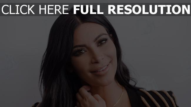 fond d'écran hd kim kardashian visage brunette sourire