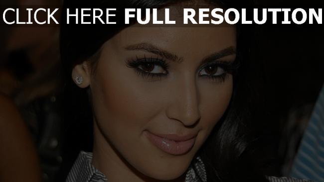 fond d'écran hd kim kardashian mascara gros plan
