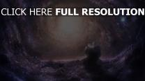 galaxie nébuleuse noyau hélix