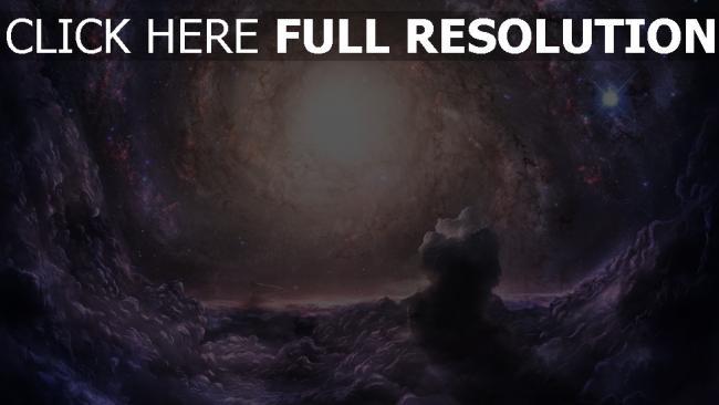 fond d'écran hd galaxie nébuleuse noyau hélix