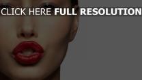 rouge à lèvres gros plan sensuel