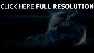nuage planète nuit satellite
