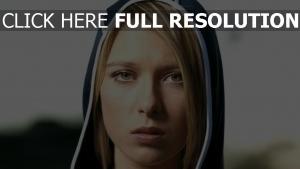 maria sharapova capuchon yeux verts joueur