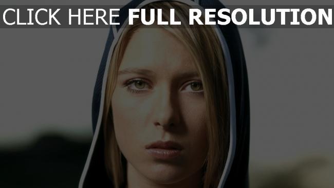 fond d'écran hd maria sharapova capuchon yeux verts joueur