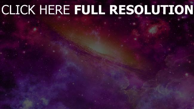 fond d'écran hd galaxie pourpre nébuleuse
