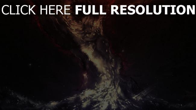 fond d'écran hd vortex fonce éclatant
