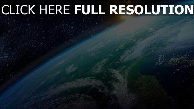 fond d'écran hd planète lever du soleil éclatant