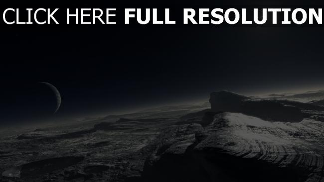 fond d'écran hd surface planète desert satellite