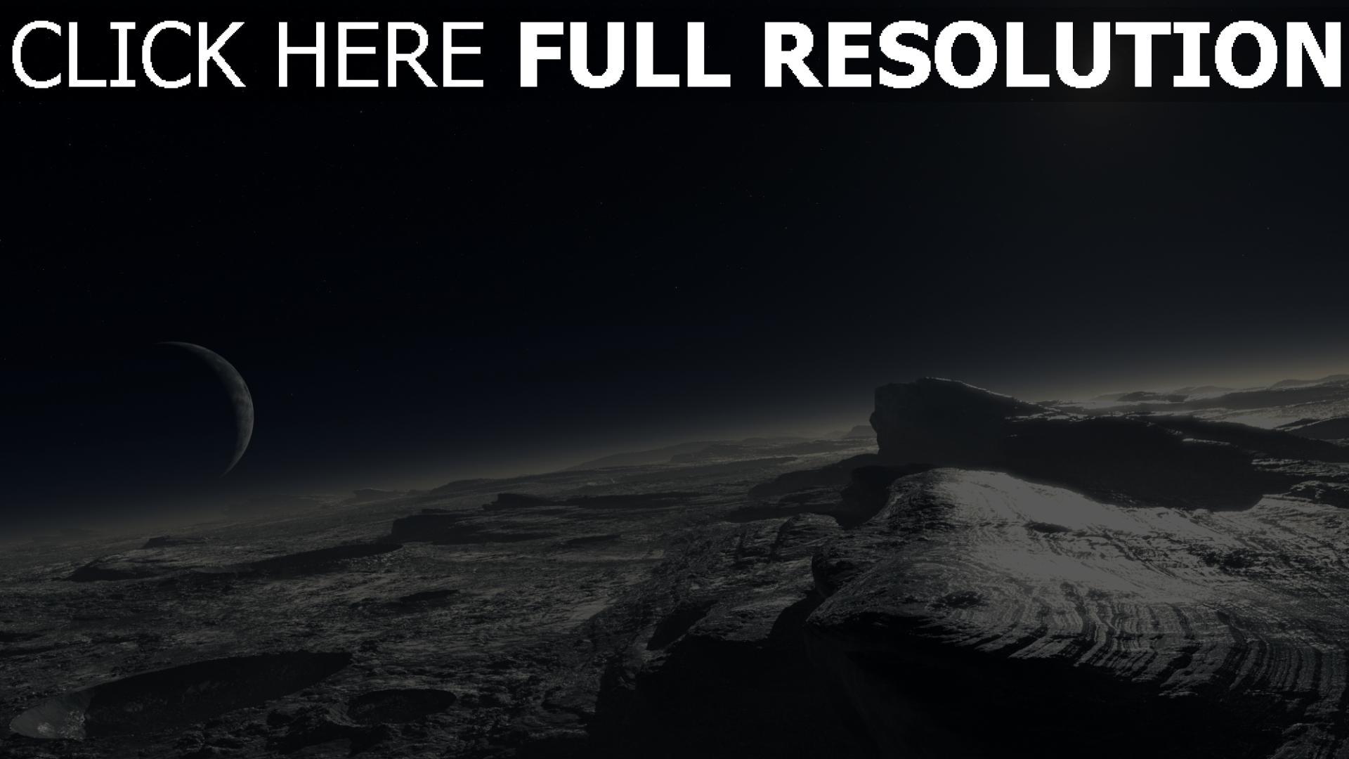 fond d'écran 1920x1080 surface planète desert satellite