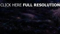 espace profond hyperespace pourpre
