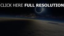 éclipse satellite atmosphère
