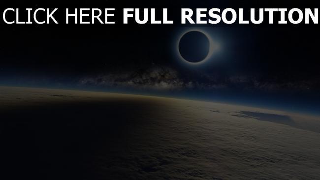 fond d'écran hd éclipse satellite atmosphère