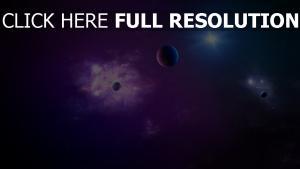 planète pourpre infini