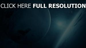 satellite bleu lumière