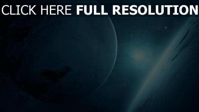 fond d'écran hd satellite bleu lumière