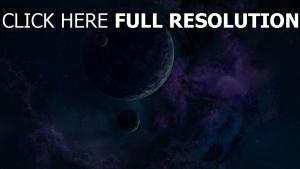 planète satellite foncé bleu pourpre
