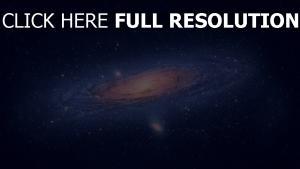 galaxie bleu hélix