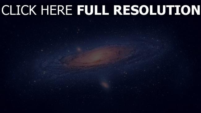 fond d'écran hd galaxie bleu hélix