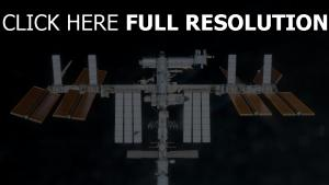 ISS vue de face