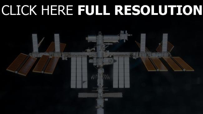 fond d'écran hd ISS vue de face