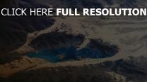 lac vue aérienne désert
