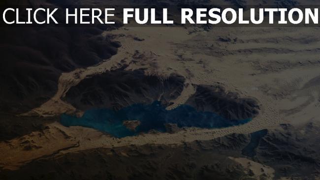 fond d'écran hd lac vue aérienne désert