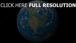 terre amérique vue aérienne