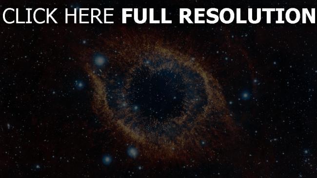 fond d'écran hd nébuleuse amas d'étoiles jaune