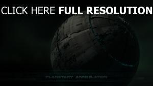 planète vaisseau spatial inscription