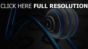 sphère ligne cercle néon