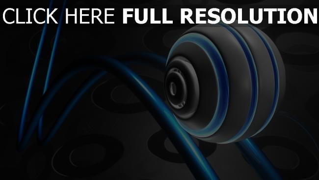 fond d'écran hd sphère ligne cercle néon