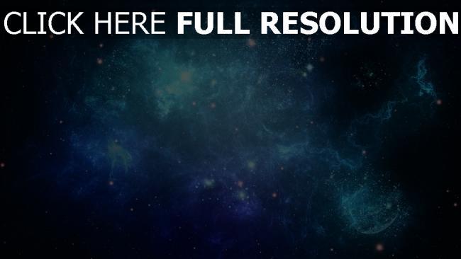 fond d'écran hd amas d'étoiles bleu espace profond